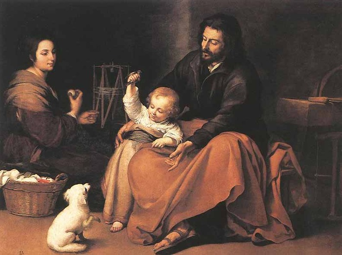 Museo del Prado in Madrid - The Holy Family by Bartolomé Esteban Murillo