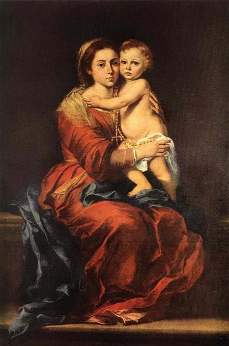 Museo del Prado in Madrid - The Virgin of the Rosary by Bartolomé Esteban Murillo
