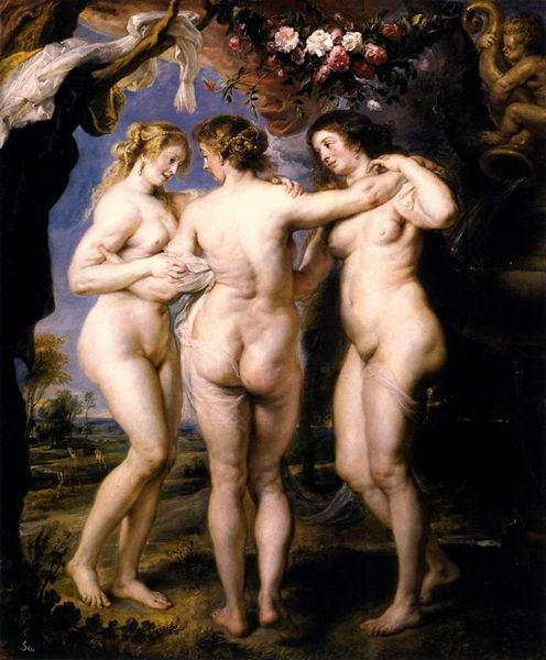 Museo del Prado in Madrid - Three Gracies by Rubens