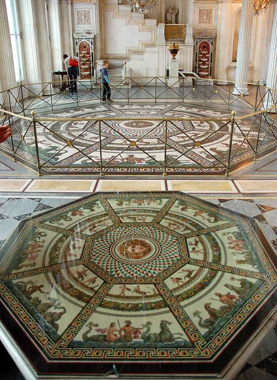 Hermitage Museum in Saint Petersburg - Mosaic floor