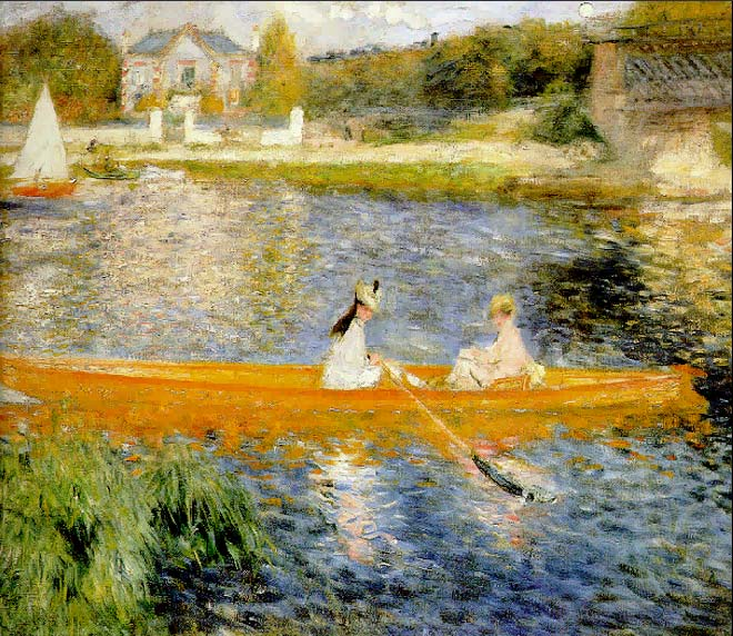 National Gallery of London - Boating on the Seine by Pierre-Auguste Renoir