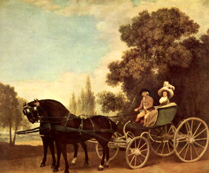 National Gallery of London - Man and woman in a phaeton by George Stubbs