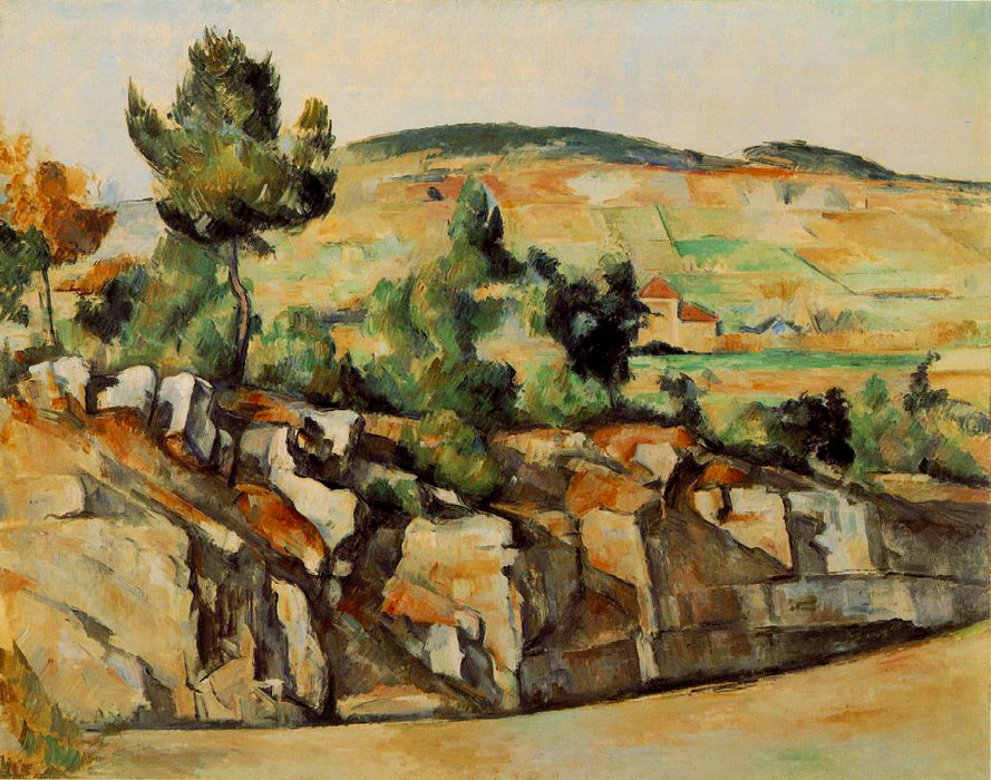 National Gallery of London - Mountains in Provence by Paul Cezanne