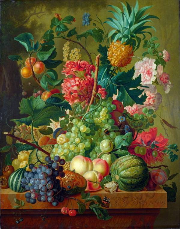 National Gallery of London - Paulus Theodorus van Brussel - Fruit and Flowers