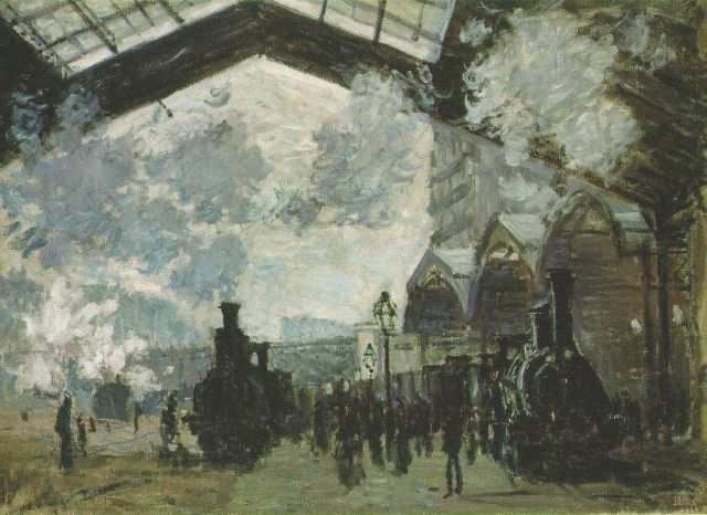 National Gallery of London - Saint Lazare Station by Claude Monet