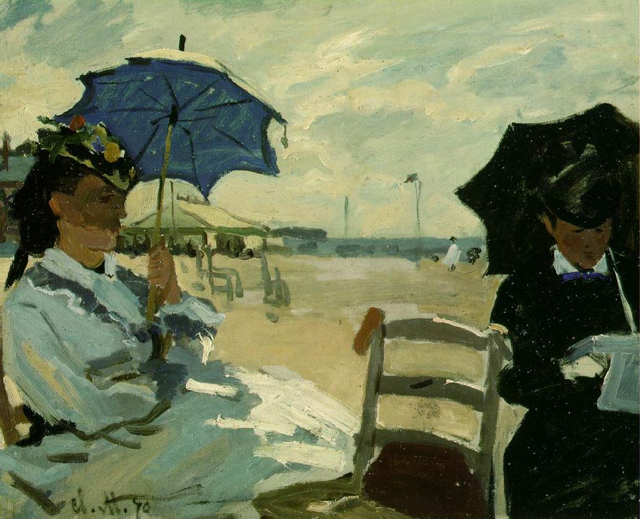 National Gallery of London - The Beach at Trouville by Claude Monet