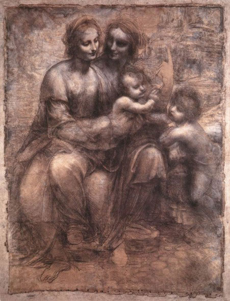 National Gallery of London - The Virgin and Child with Saint Anne and Saint John the Baptist by Leonardo da Vinci