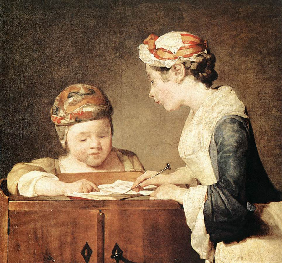 National Gallery of London - The Young Teacher by Jean-Baptiste-Simeon Chardin