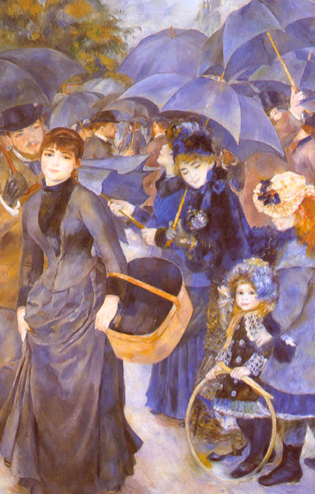 National Gallery of London - Umbrellas by Pierre Auguste Renoir
