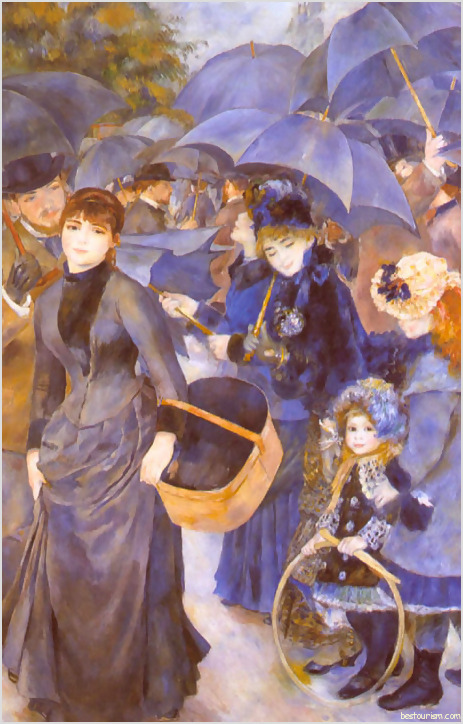 Image Umbrellas by Pierre Auguste Renoir