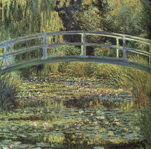 National Gallery of London - Water Lily Pond and Bridge by Claude Monet