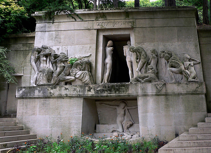 Pere Lachaise Cemetery in Paris, France - Cemetery view
