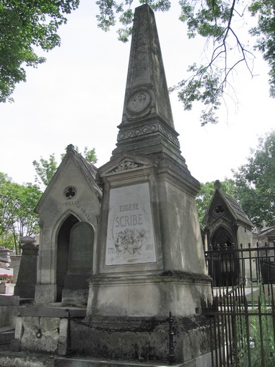Pere Lachaise Cemetery in Paris, France - Eugene Scribe grave