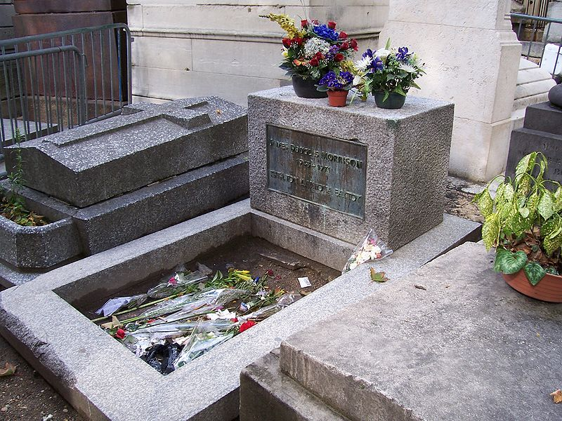 Pere Lachaise Cemetery in Paris, France - Jim Morrison grave