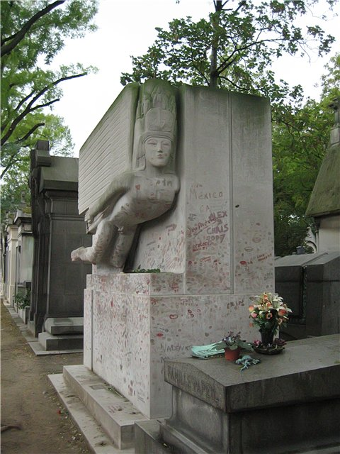 Pere Lachaise Cemetery in Paris, France - Oscar Wilde grave