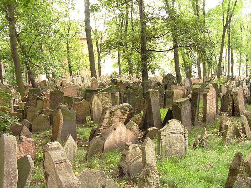 Old Jewish Cemetery in Prague, Czech Republic - Cemetery view