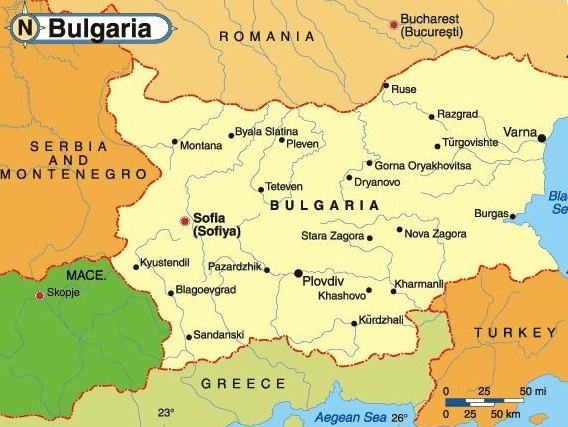 Images Bulgaria Map of Bulgaria 7759