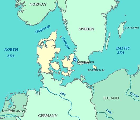 European Map Denmark Denmark Map of Denmark
