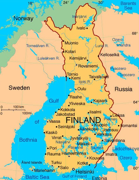 map of finland in europe. Finland - Finland map