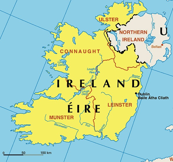 Ireland - Map of Ireland
