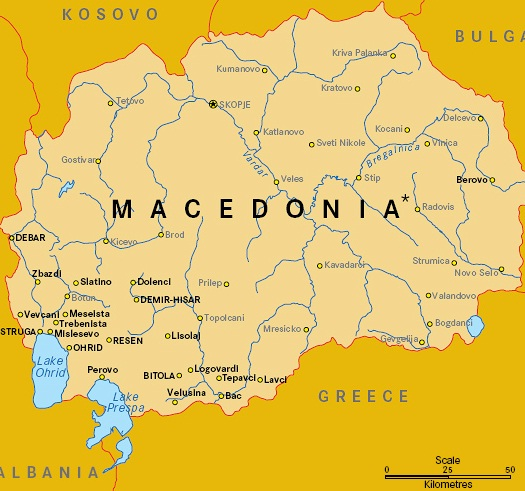 Quiz Macedonia The Former Yugoslav Republic Of - Macedonia map quiz