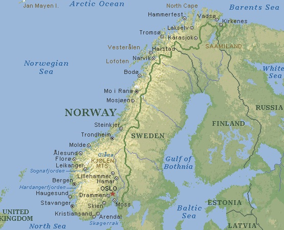 Pictures Of Norway. Norway - Map of Norway