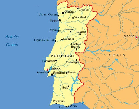 Portugal - Map of Portugal