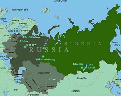 Russia - Map of Russia