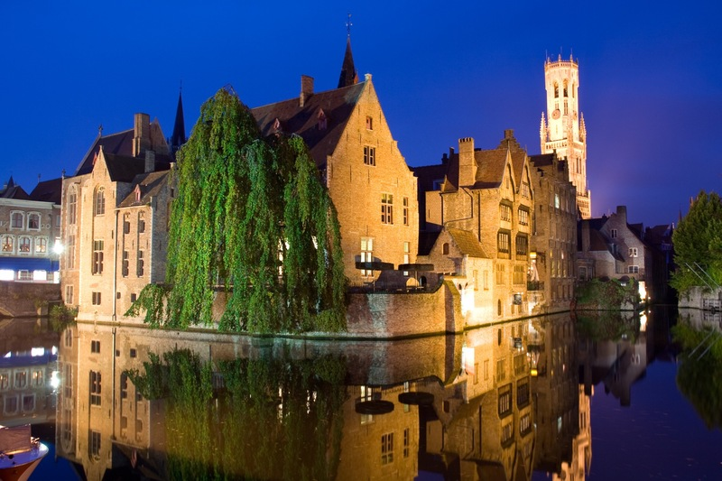 Belgium - Bruges view by night