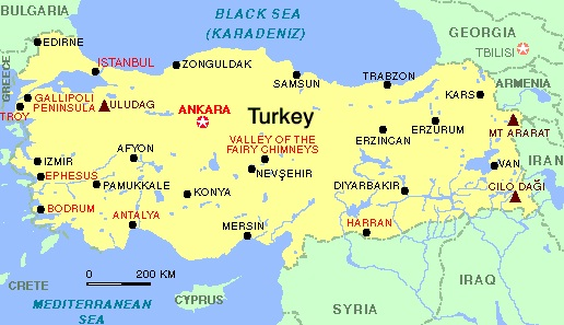 Images Turkey Map Of Turkey - Map of turkey