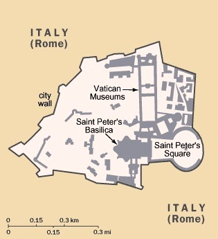 Vatican City - Map of Vatican
