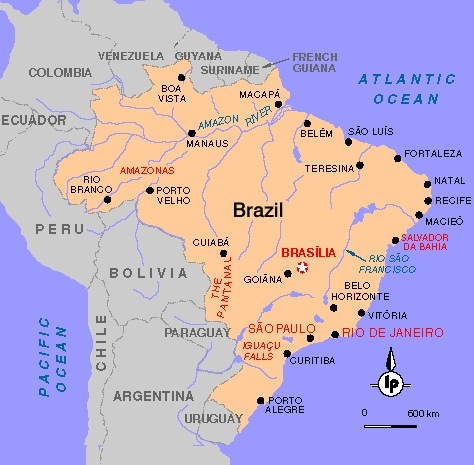 Images Brazil Map Of Brazil - Brazil map