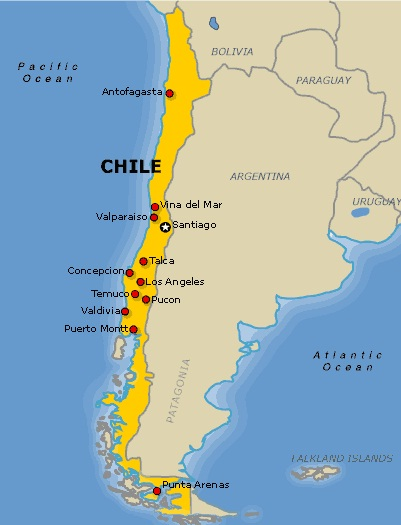 Images Chile Map of Chile 7936