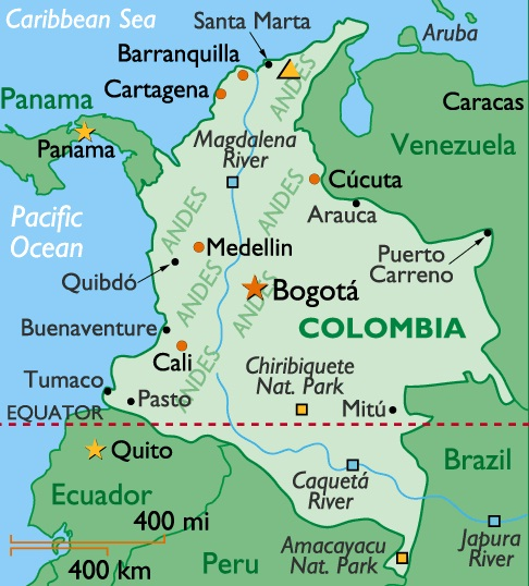 map of colombia. Colombia - Map of Colombia
