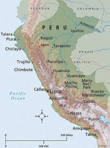 Peru The Best Countries Of South America - Peru major cities map