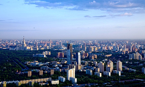 Moscow, capital of Russia - A top view to Moscow