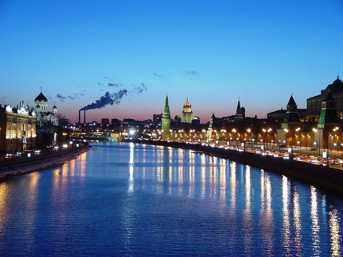 Moscow, capital of Russia - View to the Moscow Kremlin