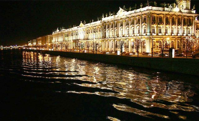 The Hermitage Museum - Lighted at night Hermitage