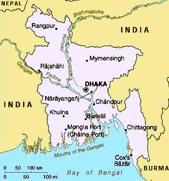 Bangladesh - Map of Bangladesh