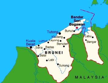 Images Brunei Map Of Brunei - Brunei map