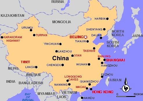China - Map of China
