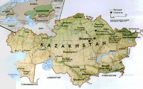 Images Kazakhstan Map of Kazakhstan 8504