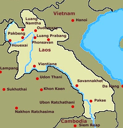 Laos - Map of Laos