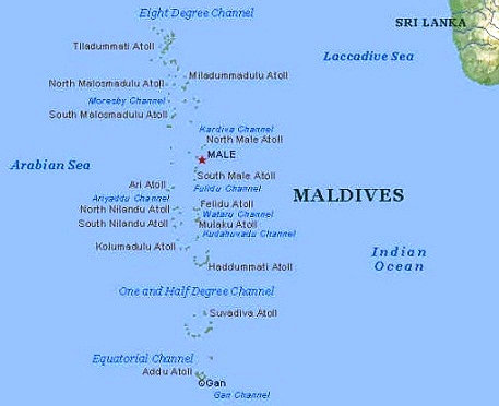 Maldives - Map of Maldives