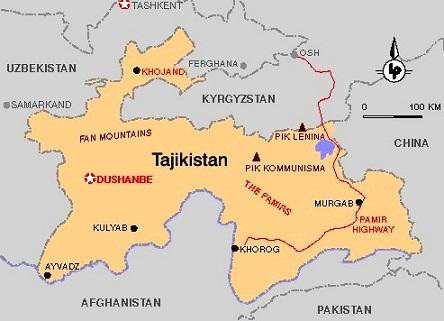 Images Tajikistan Map of Tajikistan 8649