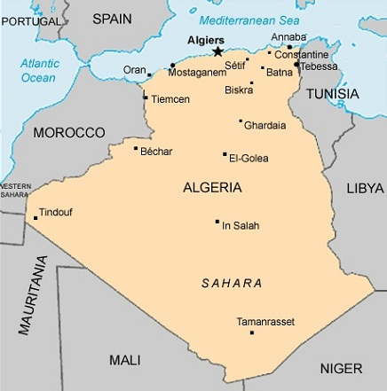 Images Algeria Map of Algeria 8751