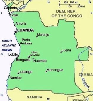 Images Angola Map of Angola 8760