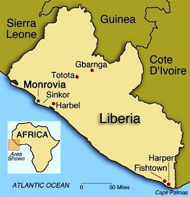 Images Liberia Map of Liberia 9008