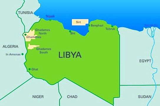 Image result for Image of libya map