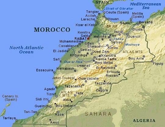 Images Morocco Map Of Morocco - Map of morocco